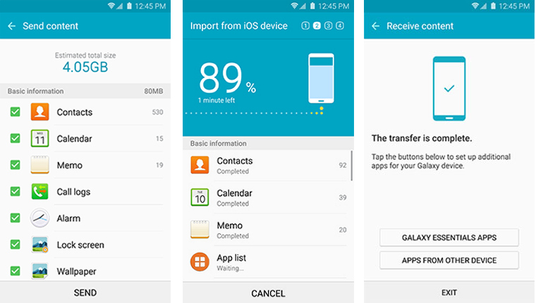 how to transfer files with Samsung switch mobile transfer