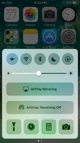 airdrop desconectado