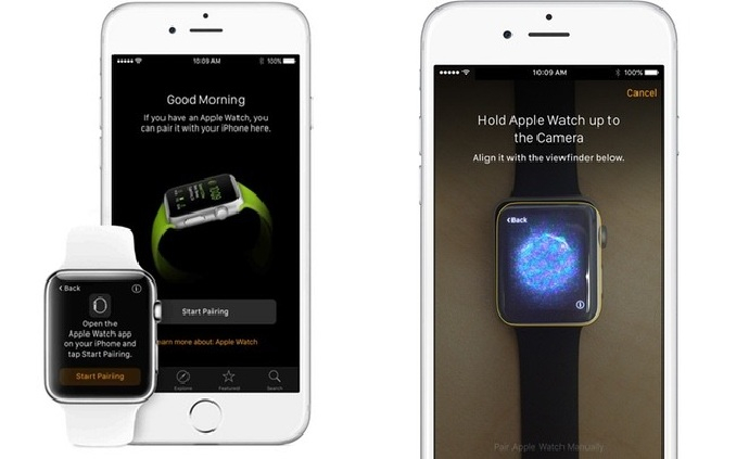 pairing of iphone and apple watch