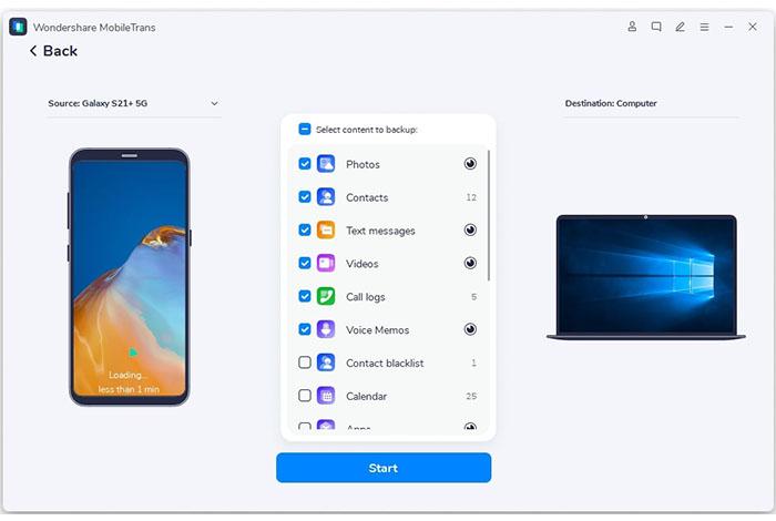 20 meilleurs outils de transfert de Samsung pour sauvegarder les données Samsung-Mobiletrans S vers mac