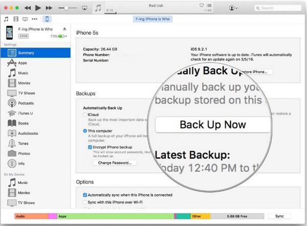 backup viber on pc by iTunes