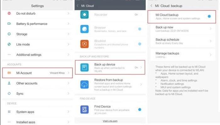backup xiaomi to cloud 1