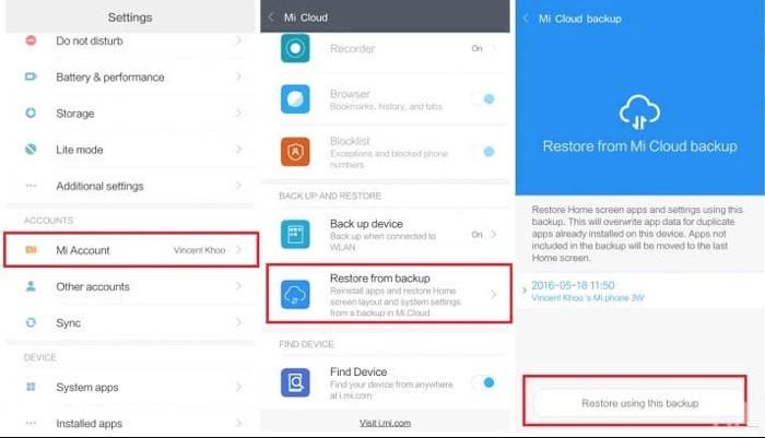 backup xiaomi to cloud 2