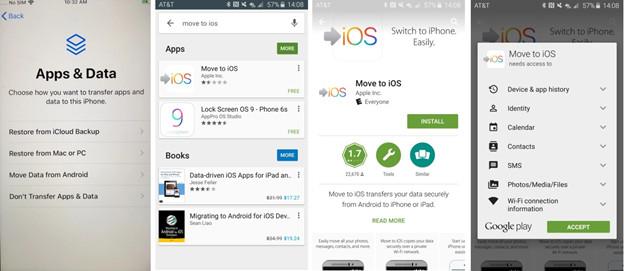 Transferencia de datos de Android a iOS con la aplicación Move to iOS 2