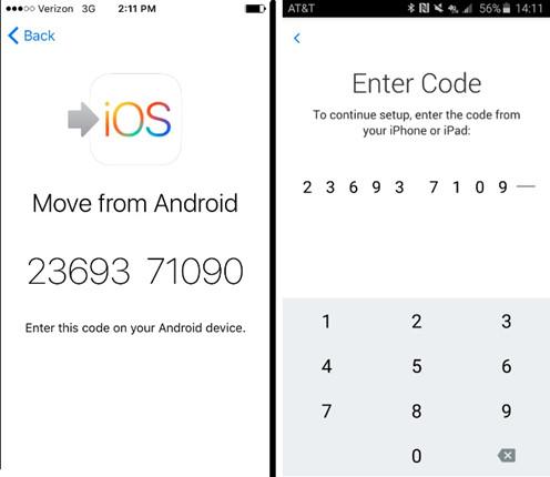 Transferencia de datos de Android a iOS con la aplicación Move to iOS 4