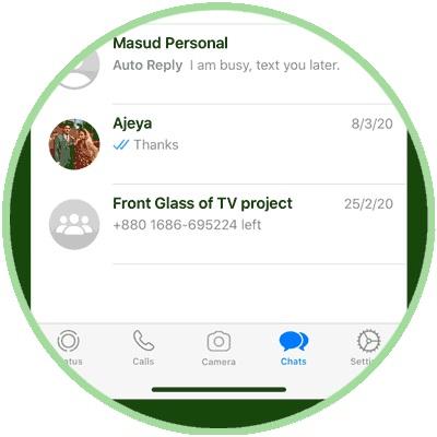 WhatsApp Conversation List Panel