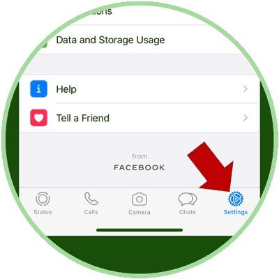 WhatsApp Settings Option