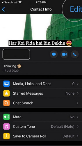 WhatsApp Blocked Contacts Edit Option
