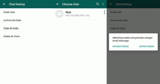 WhatsApp Email Recovery Option
