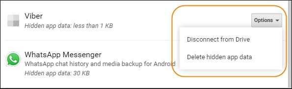 delete whatsapp backup google drive 4