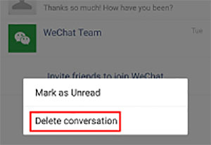 delete whole conversation
