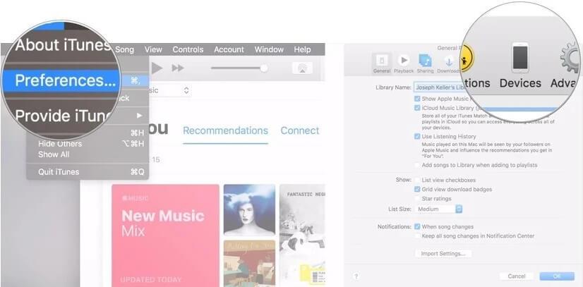 suppression de la sauvegarde d'iTunes 7