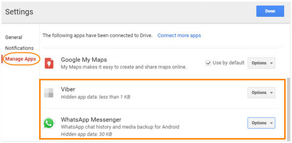 find delete restore viber on google drive 4