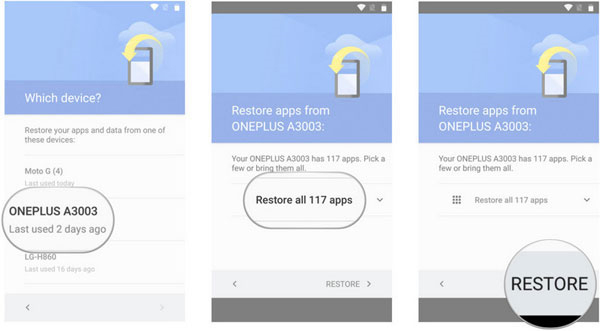 google account restore