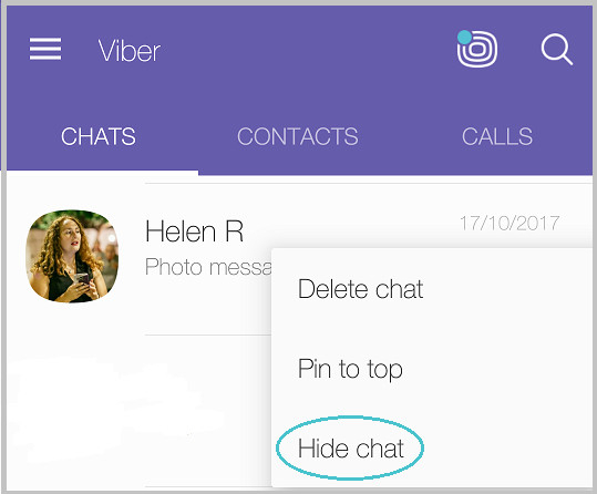 hidden viber how to hide and unhide viber chat 1