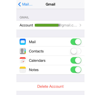 como fazer backup de notas do iPhone para o Gmail