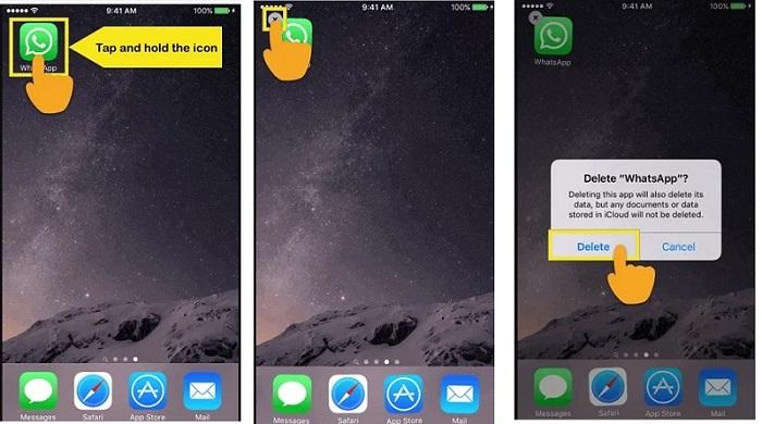 how to uninstall whatsapp 3
