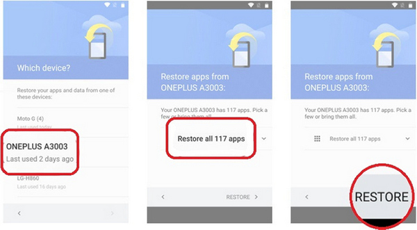 how you can restore from google backup to samsung s20 4