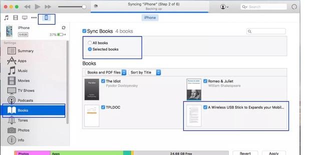 ibooks sync itunes