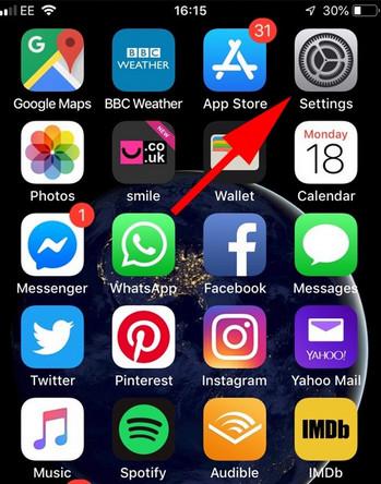 Iphone-paramètres