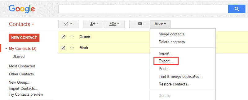 Export-google
