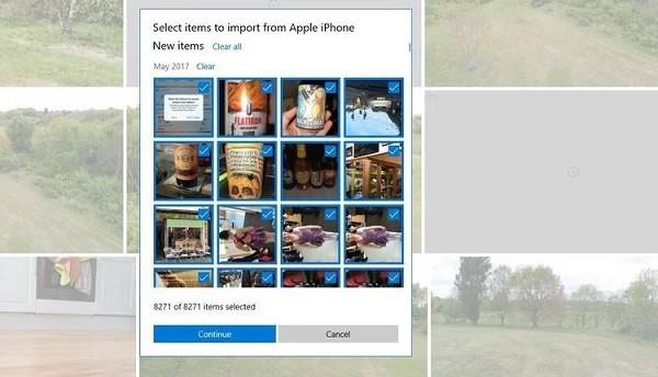 import photos iphone to windows 10