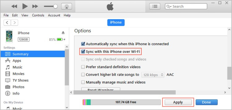 iphone not synchronizing with itunes 7