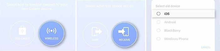 iPhone a Samsung Galaxy S9 de forma inalámbrica con la ayuda de Smart Switch de Samsung 1