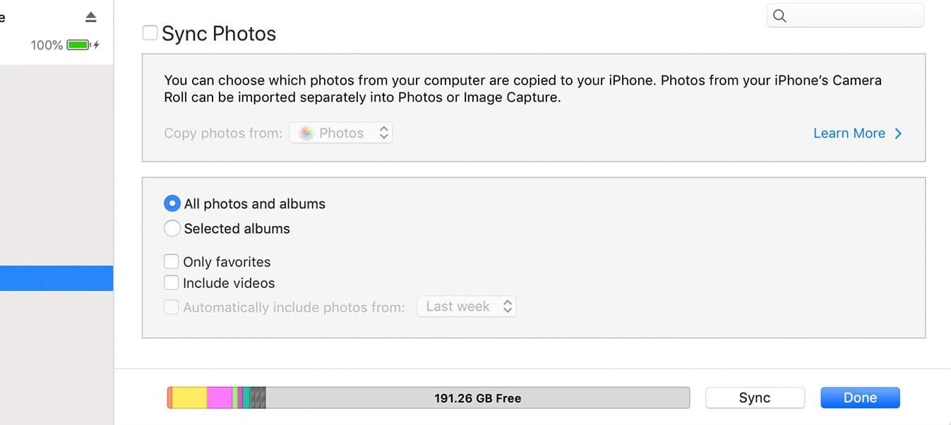 Photos de sauvegarde iTunes 2
