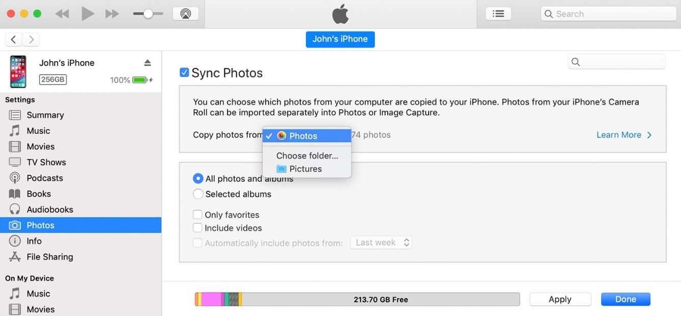 Photos de sauvegarde iTunes 3