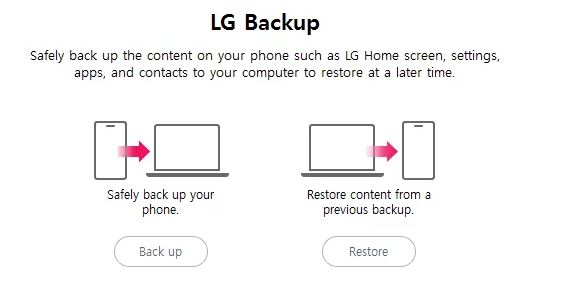 lg backup bridge