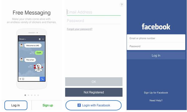 line account transfer with facebook 2