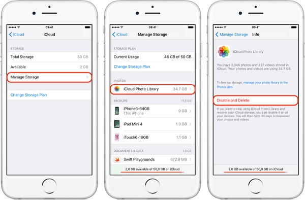 Movendo fotos do iPhone para o iCloud 4