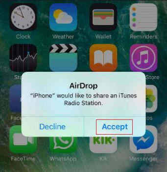 transfert de musique d'iphone vers iphone par airdrop 3