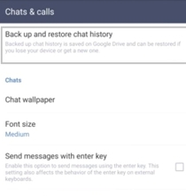 restore line chat history with google drive 1