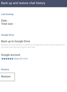 restore line chat history with google drive 3