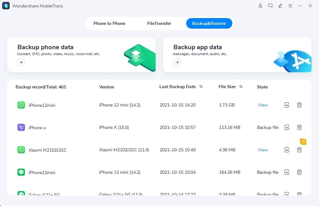 Executando o MobileTrans - Transferência do WhatsApp