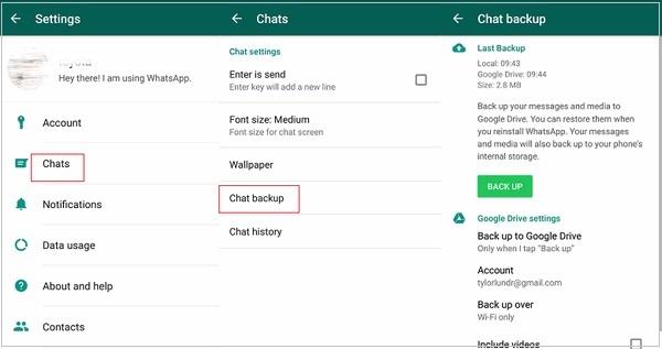 whatsapp lokale backup erstellen android