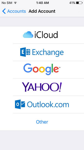 Sincronizando contatos do iCloud com Google 1