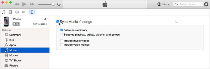 sync iphone data to itunes