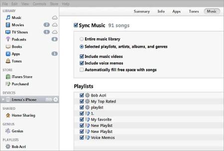 sync itunes music