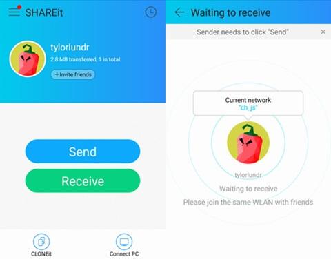 application de transfert d'iphone vers android-SHAREit
