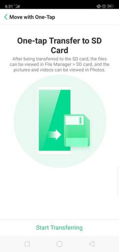 08 عملية نقل التطبيقات إلى بطاقة التخزين الخارجية على هاتف Oppo A3s