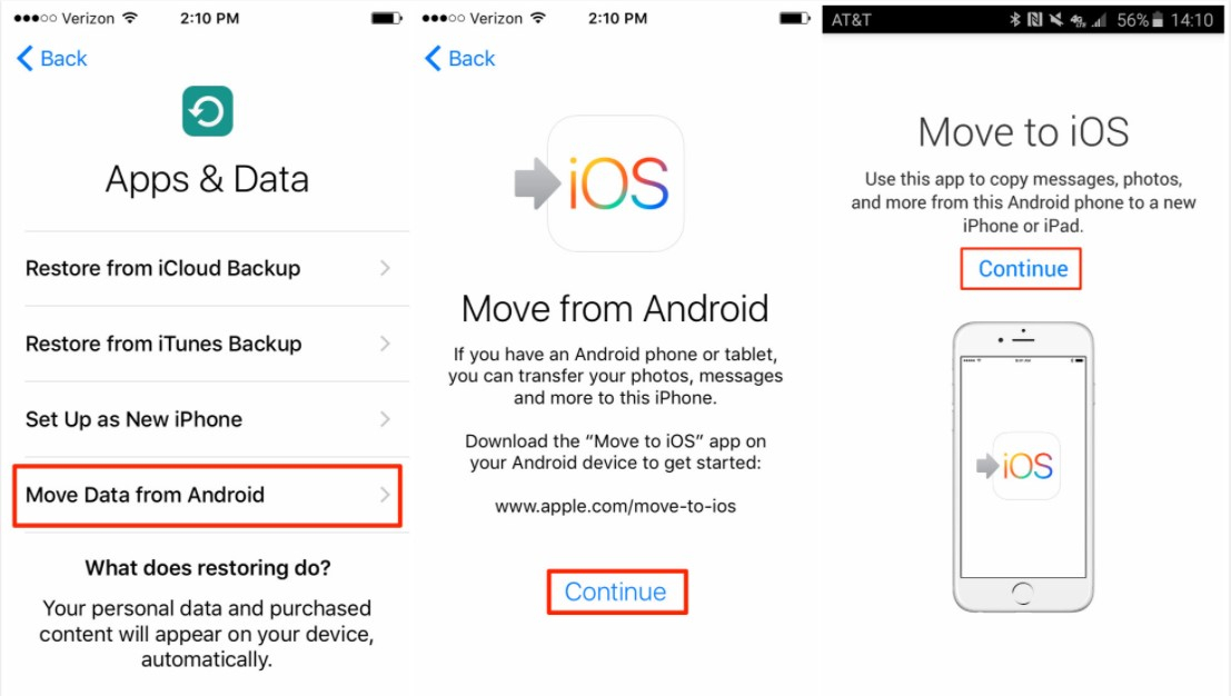 نقل البيانات من oneplus إلى iphone 1