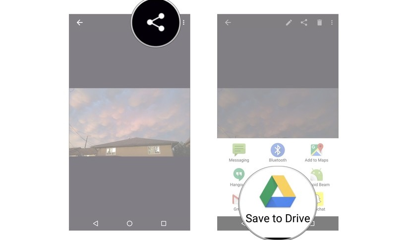 save files google drive