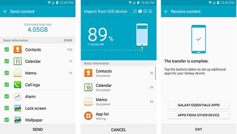 transferir de HTC a Samsung S20 4