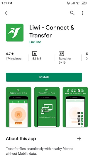 transfer music from android to android by liwiapp 1