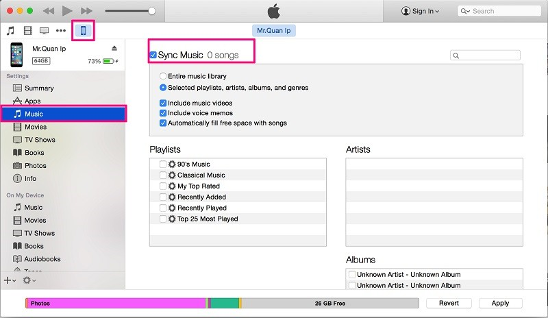 transfer music iphone to ipod