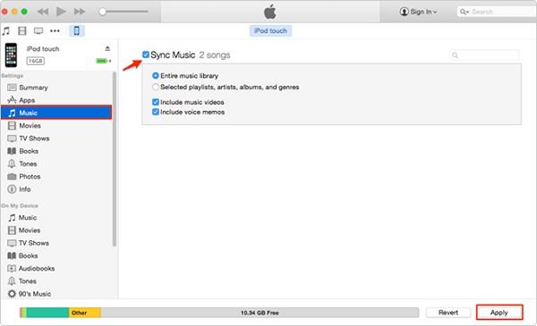 transférer un ipod musical sur un ordinateur 3
