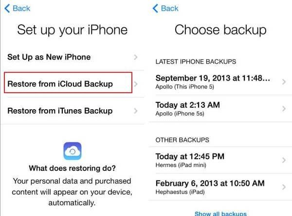 Restore Notes to new iPhone